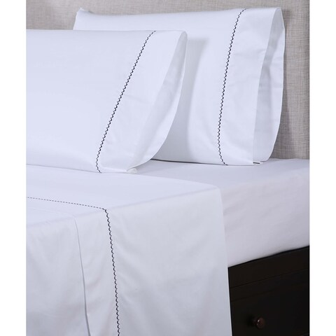 Gracewood Hollow Shakespeare 600 Thread Count Scalloped Embroidered Sheet Set