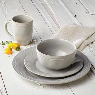 Rachael Ray(r) Cucina Dinnerware 16-Piece Stoneware Dinnerware Set Sea Salt & Dinnerware For Less | Overstock