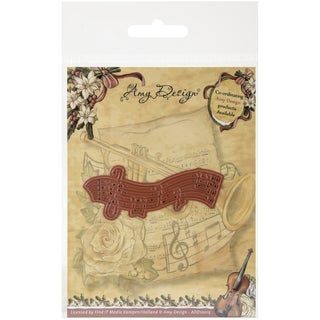 Find It Trading Amy Design Vintage Christmas Die Musical Staff