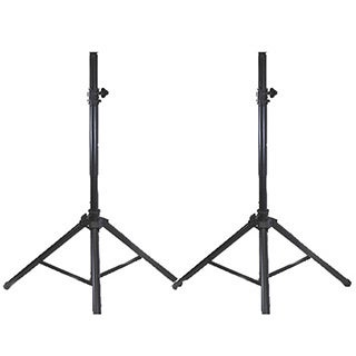 Podium Pro SS1-PR DJ Karaoke Band Steel Telescoping Speaker Stand Pair