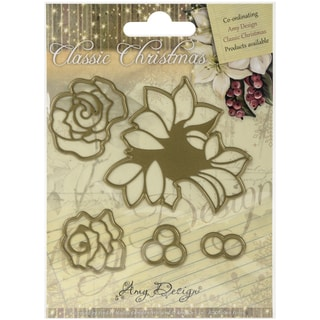 Find It Trading Amy Design Classic Christmas Die Roses
