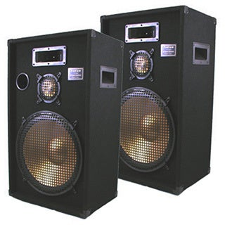 Podium Pro PPB15-PR Band DJ Karaoke 1400 Watt Deluxe Three Way 15-inch Speaker Pair