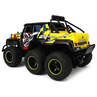 Velocity Toys Speed Wagon 6X6 RC High Performance Truck, 2.4 GHz Control System, Big Size 1:10 Scale RTR