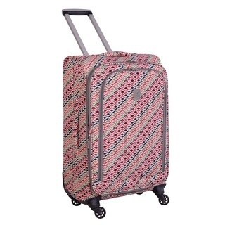 Jenni Chan Tiles 24-inch Fashion Spinner Upright Suitcase
