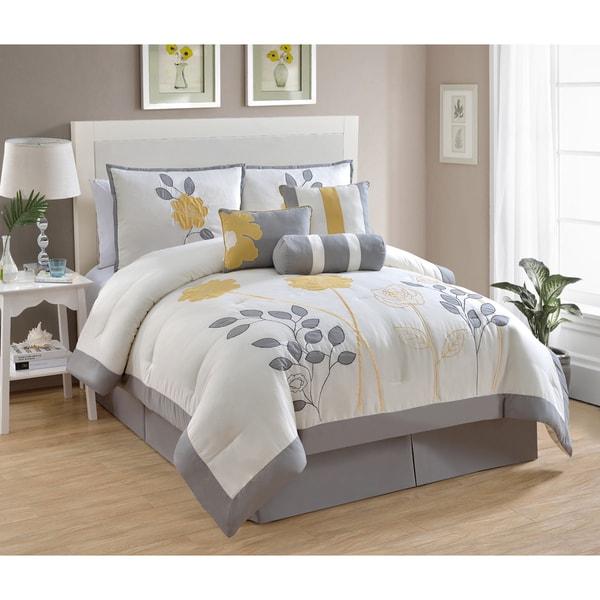 Floral 7-piece Comforter Set