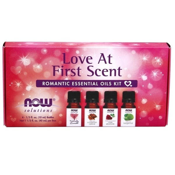 Now Foods 4 piece Love at First Scent Romantic Essential Oils Kit. Opens flyout.