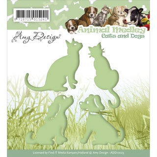 Find It Trading Amy Design Animal Medley Die Cats & Dogs