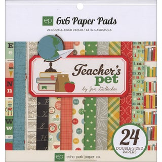 Echo Park Double Sided Paper Pad 6inX6in 24/Pkg Teacher's Pet