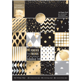 Forever Friends Single Sided Paper Pack A4 32/Pkg Foiled Classic Decadence