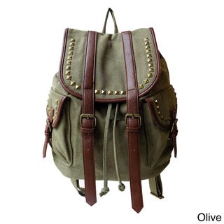 Olivia Miller 'Jane' Multi-studded Drawstring Backpack