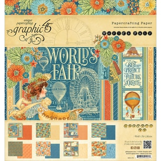 Graphic 45 Double Sided Paper Pad 8inX8in 24/Pkg World's Fair, 3 Each Of 8 Designs
