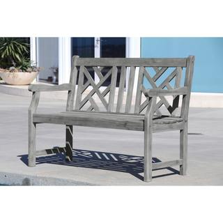 Link to Surfside 4-foot Outdoor Hand-scraped Garden Bench by Havenside Home Similar Items in Patio Furniture