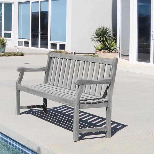Surfside Eco-friendly 5-foot Outdoor Hand-scraped Hardwood Garden Bench by Havenside Home