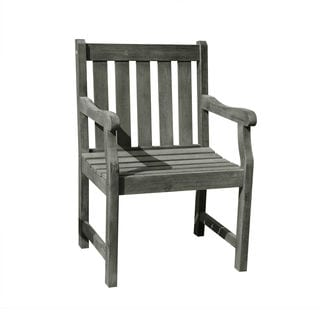 Renaissance Eco-friendly Outdoor Hand-scraped Hardwood Garden Arm Chair