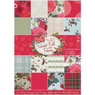 Papermania Single Sided Paper Pack A4 Pocket Full Of Posies (Pack of 32)