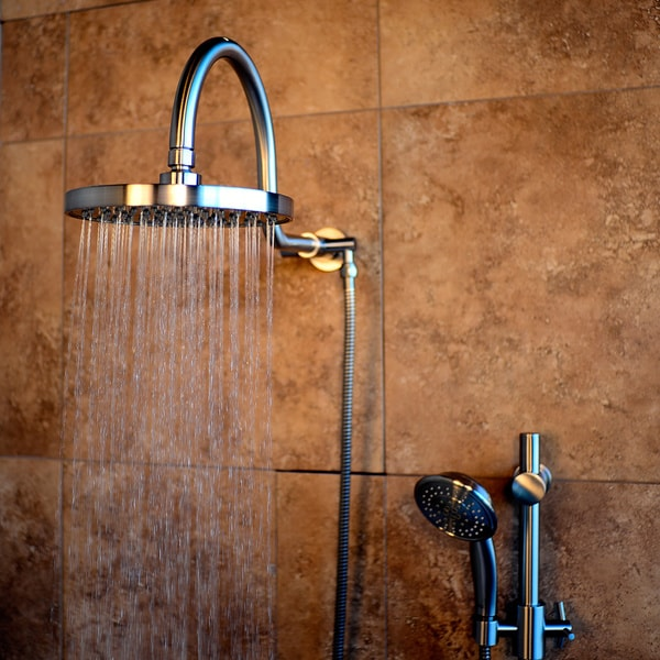Pulse ShowerSpa AquaRain Nickel Finished Brass ABS Stainless Steel Showerhead System With Hand