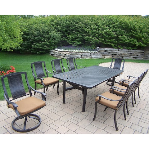 Wailea 9-piece Dining Set, with Table, 6 Chairs, 2 Swivel Rockers and Cushions by Havenside Home