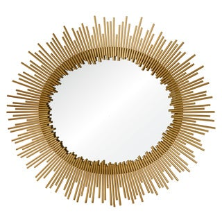 Ren Wil Intrepid Gold Starburst Oval Mirror