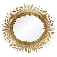Ren Wil Intrepid Gold Starburst Oval Mirror