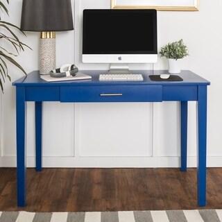 48-inch Blue Wood Writing Desk