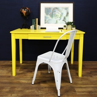 "48"" Wood Writing Desk - Yellow"