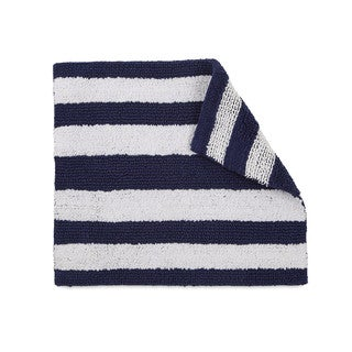 IZOD Striped Reversible Cotton Bath Rug - 17 x 24