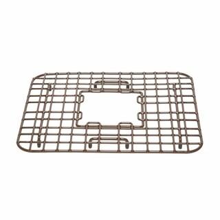 Sinkology Gehry Copper Kitchen Sink Bottom Grid Heavy Duty Vinyl Coated in Antique Brown