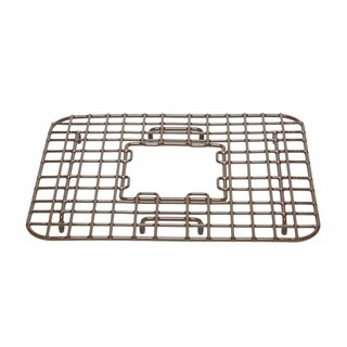 Sinkology Gehry Copper Kitchen Sink Bottom Grid Heavy Duty Vinyl Coated in Antique Brown