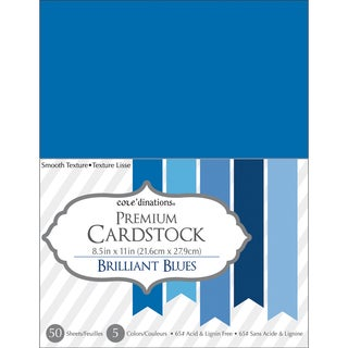 Core'dinations Value Pack Cardstock 8.5inX11in 50/Pkg Brilliant Blue