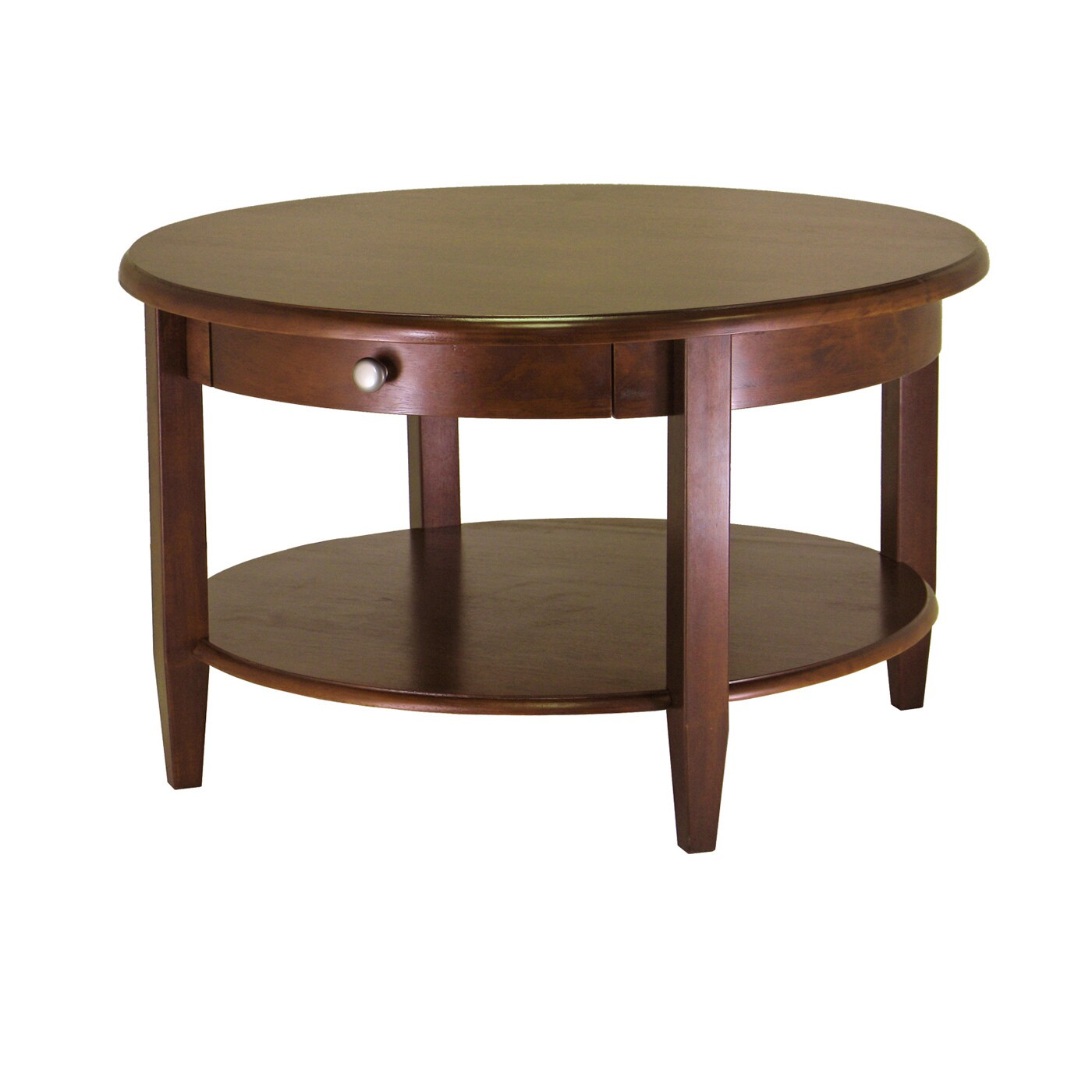 Unbranded Concord Round Coffee Table with Drawer and Shel...