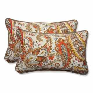 Pillow Perfect Outdoor/ Indoor Hadia Sunset Rectangular Throw Pillow (Set of 2)