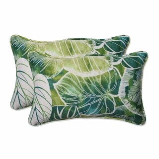 Pillow Perfect Outdoor/ Indoor Key Cove Lagoon Rectangular Throw Pillow (Set of 2)