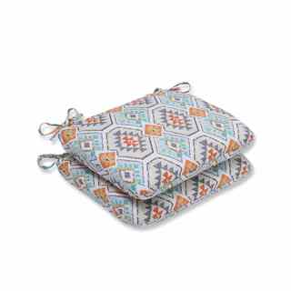 Pillow Perfect Outdoor/ Indoor Eresha Oasis Rounded Corners Seat Cushion (Set of 2)