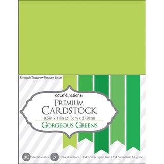Core'dinations Value Pack Cardstock 8.5inX11in 50/Pkg Gorgeous Green