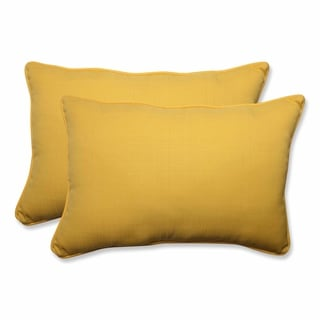 Pillow Perfect Outdoor/ Indoor Forsyth Soleil Over-sized Rectangular Throw Pillow (Set of 2)