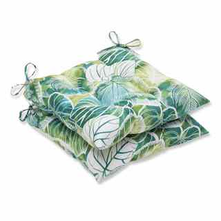 Pillow Perfect Outdoor/ Indoor Key Cove Lagoon Wrought Iron Seat Cushion (Set of 2)