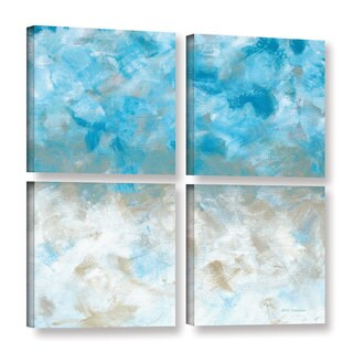 ArtWall Herb Dickinson's Above The Clouds, 4 Piece Gallery Wrapped Canvas Square Set