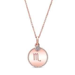 14k Rose Gold Diamond Accent Symbol Pendant (H-I, SI1-SI2)