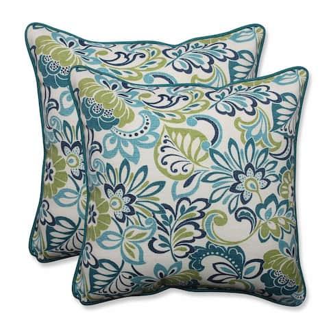 Pillow Perfect Outdoor/ Indoor Zoe Mallard 18.5-inch Throw Pillow (Set of 2)