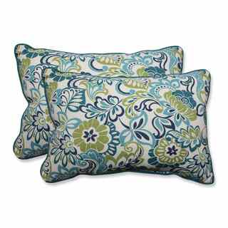 Pillow Perfect Outdoor/ Indoor Zoe Mallard Over-sized Rectangular Throw Pillow (Set of 2)