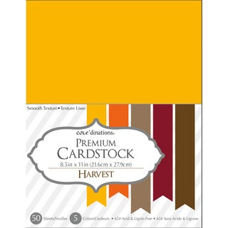 Core'dinations Value Pack Cardstock 8.5inX11in 50/Pkg Harvest