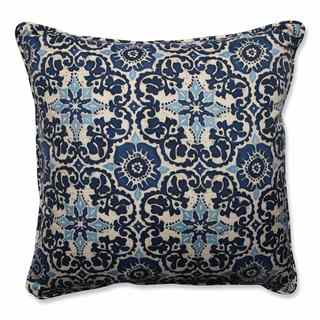 Pillow Perfect Outdoor/ Indoor Woodblock Prism Blue 25-inch Floor Pillow