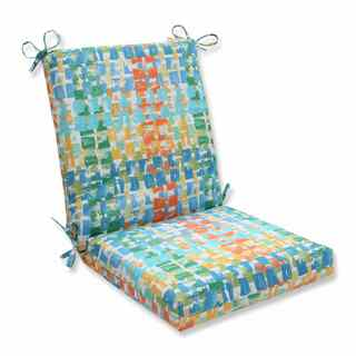 Pillow Perfect Outdoor/ Indoor Quibble Sunsplash Squared Corners Chair Cushion