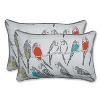 Pillow Perfect Outdoor/ Indoor Retweet Mango Rectangular Throw Pillow (Set of 2)
