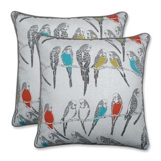Pillow Perfect Outdoor/ Indoor Retweet Mango 18.5-inch Throw Pillow (Set of 2)