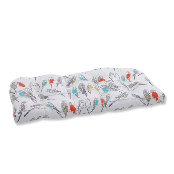 Pillow Perfect Outdoor/ Indoor Retweet Mango Wicker Loveseat Cushion