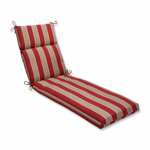 Pillow Perfect Outdoor/ Indoor Wickenburg Cherry Chaise Lounge Cushion
