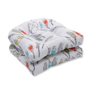 Pillow Perfect Outdoor/ Indoor Retweet Mango Wicker Seat Cushion (Set of 2)