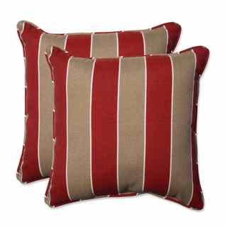 Pillow Perfect Outdoor/ Indoor Wickenburg Cherry 18.5-inch Throw Pillow (Set of 2)