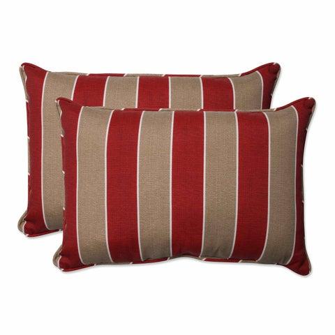 Pillow Perfect Outdoor/ Indoor Wickenburg Cherry Over-sized Rectangular Throw Pillow (Set of 2)
